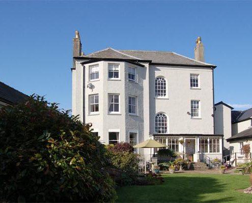 The Parade House garden at Parade House in Monmouth