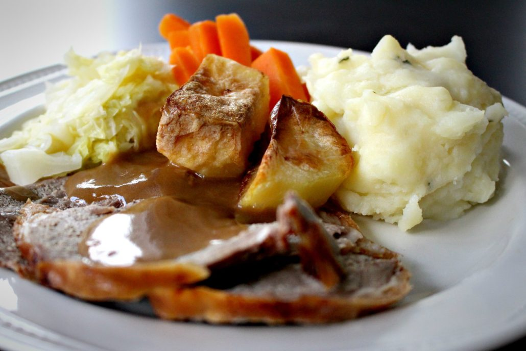 Dining at Parade House in Monmouth - Roast Dinner