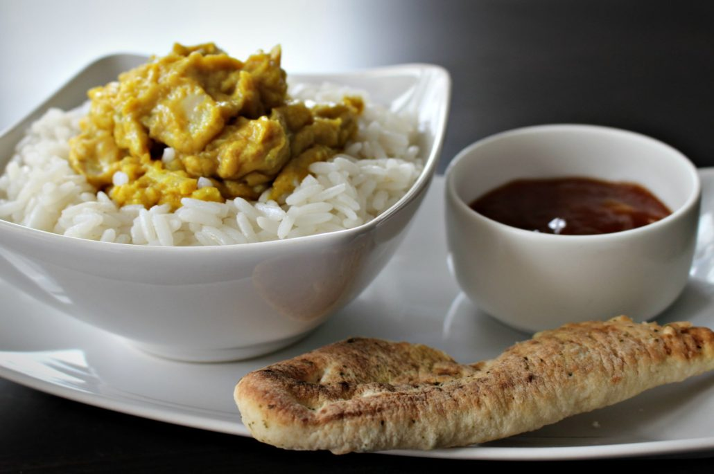 Dining at Parade House in Monmouth - Flavorsome curry, fluffy rice and naan bread