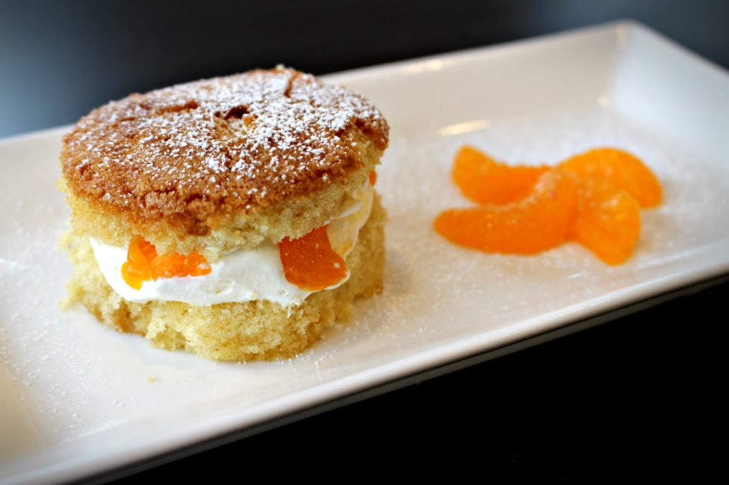 Dining at Parade House in Monmouth - Dessert with mandarin orange segments