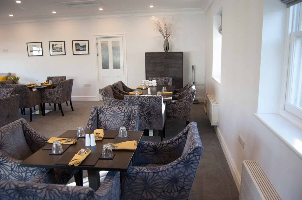Relaxed, stylish and comfortable dining area in Parade House in Monmouth