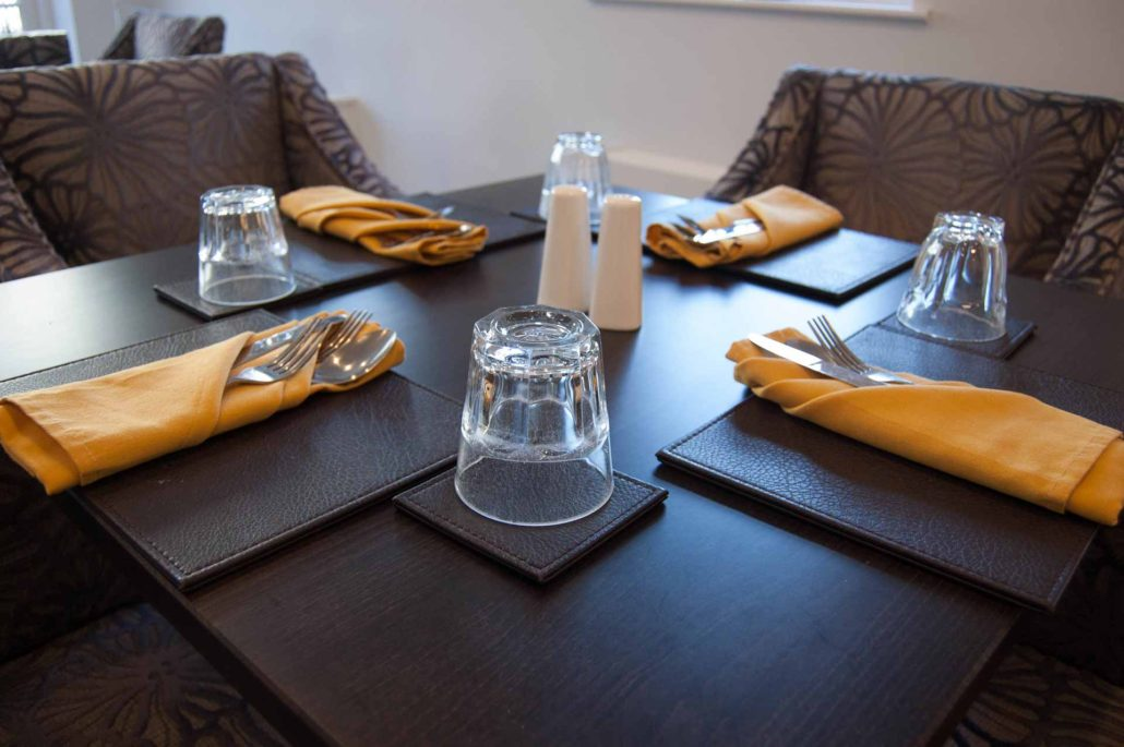 Stylish dining table at Parade House in Monmouth